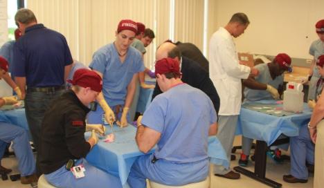 photos of harvard combined orthopaedic surgery residents at the Harvard Orthopedic Trauma sponsored Boot Camp.